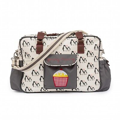 Brand New Pink Lining Yummy Mummy Baby Changing Nappy Bag Penguin Love