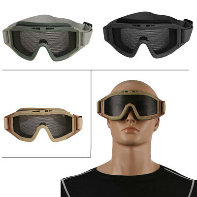 Outdoor Sport Tactical Airsoft Eye Protection Goggles Mesh Glasses CS Paintball