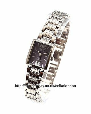 Omax Ladies Lilac Art-Deco Watch, Silver Finish, Seiko (Japan) Movt. RRP £49.99