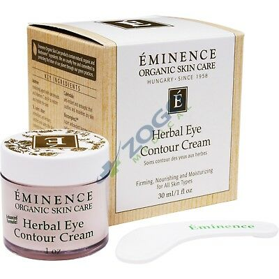 Eminence - Herbal Eye Contour Cream - 30ml/1oz CLEAN & CLEAR Makeup Dissolving Facial Cleansing Wipes 25 Each (Pack of 6)
