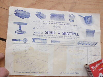 Small & Shattell Bakers Products Invoice,  C 1910