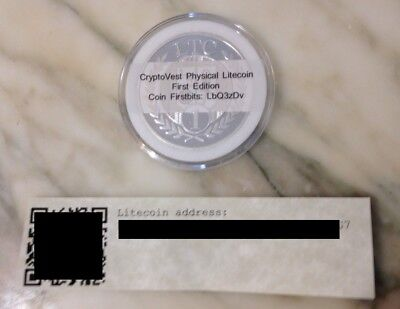 Cryptovest Zinodaur Firstbits First Edition Physical Litecoin Wallet Coin