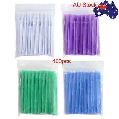 400pcs Disposable Eyelash Swab Applicator Micro Mascara Brush Extension Tools