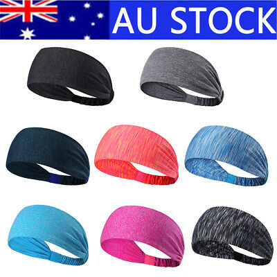 Women Men Sports Sweat Sweatband Headband Yoga Gym Stretch Head Band Hair Band