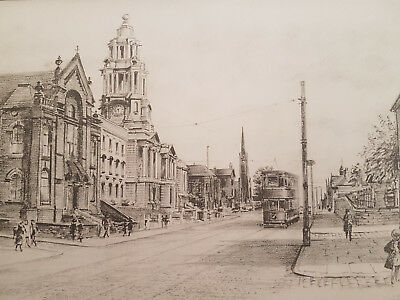 Stockport - Town Hall - Pencil Sketch on A5 Card - Frame or send incs. envelope