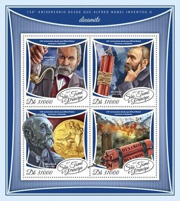 Z08 IMPERF ST17502a Sao Tome and Principe 2017 Alfred Nobel MNH Mint