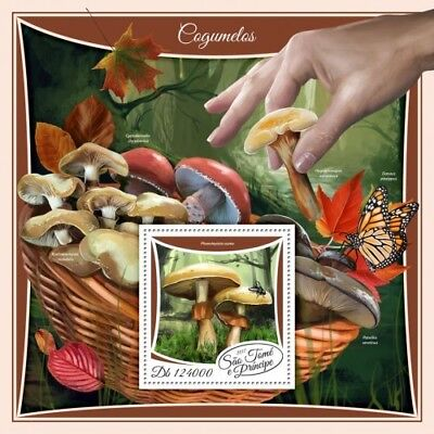 Z08 IMPERF ST17507b Sao Tome and Principe 2017 Mushrooms MNH Mint