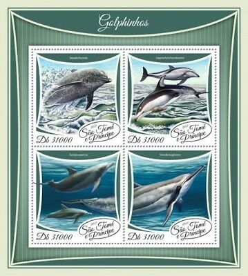 Z08 IMPERF ST17503a Sao Tome and Principe 2017 Dolphins MNH Mint