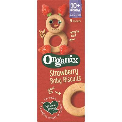 Organix Baby Ring Biscuits Strawberry 54g