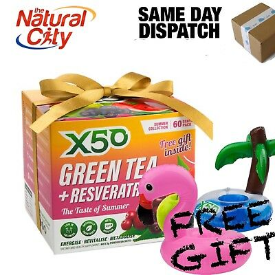 X50 GREEN TEA AND RESVERATROL - SUMMER COLLECTION 60seves