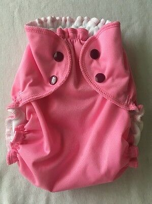 Brand New Applecheeks Size 2 Envelope Cover / Pocket Diaper Pink About It