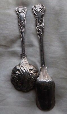 Two vintage Sheffield EPNS A1serving spoons Kings pattern
