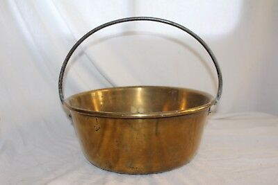 Vintage RETRO Solid BRASS JAM PAN Bucket 32cms Height SHABBY CHIC Victorian
