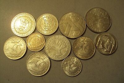 Portugal 11 Old Silver Coins Lot