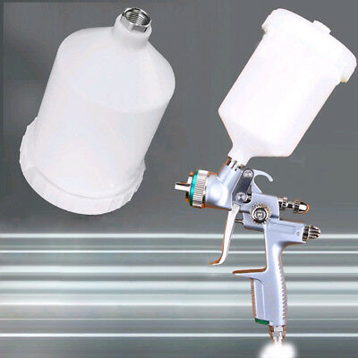 Air Gravity Feed Spray Paint Gun Cup Pot Fast mover Threaded Connector top