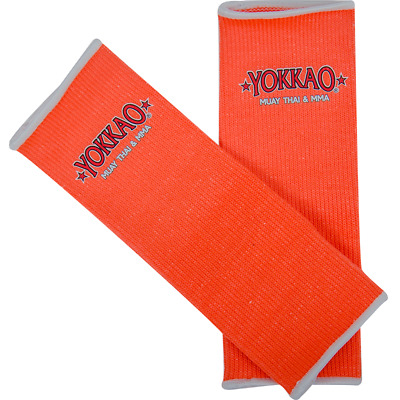 Yokkao Neon Orange Ankle  Supports (pair) Muay Thai Protection Anklet