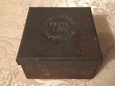 1860s - 1870s  Medicine Tin - Thompson's FEVER & AGUE POWDER - Impressed Lid -