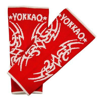Yokkao Tribal Ankle  Supports (pair) Muay Thai Protection Anklet - Red