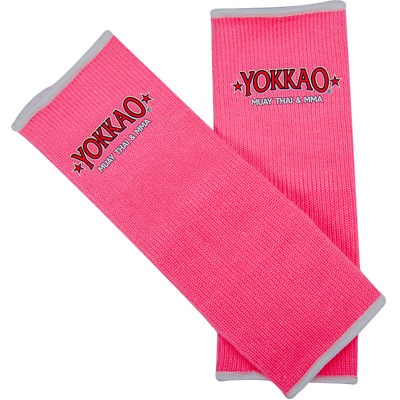 Yokkao Neon Pink Ankle  Supports (pair) Muay Thai Protection Anklet