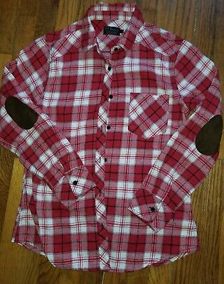 Ci Sono Unisex Mens Womens Plaid Collection Flannel Shirt Red EUC
