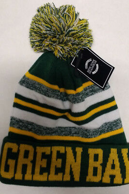 7ecbd78d4 Green Bay Packers Team Color Sideline Replica Pom Pom Knit Beanie Hat- Green