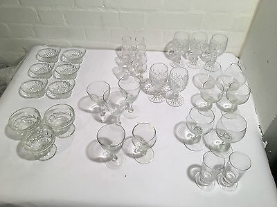 Mixed Job Lot of Glass incl Sherry Glasses and Dessert Bowls - LLT