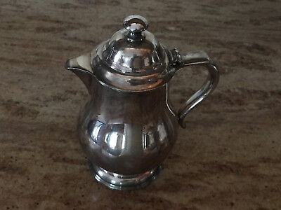 Silver Plated Syrup Tankard by E.G. Webster & Son of N.Y.