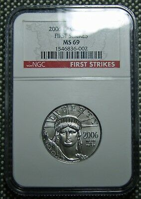 2006 American Eagle Platinum Half Ounce Coin NGC First Strike MS-69