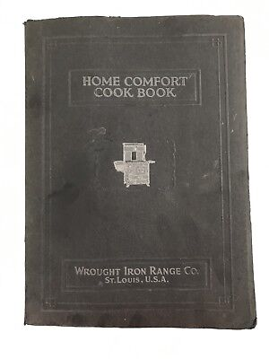 ANTIQUE WROUGHT IRON RANGE CO HOME COMFORT COOK BOOK VINTAGE ADVERTISING 1920s