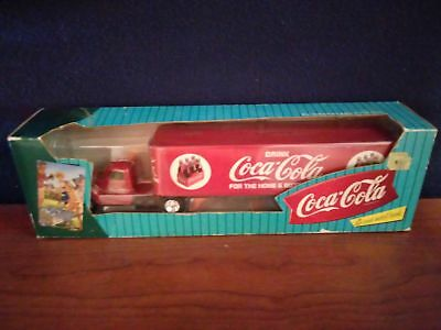 1996 Collectible Coca-Cola Die-Cast Metal Bank Ford Semi Truck