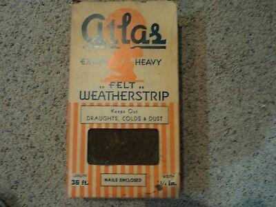 Antique Weather Stripping Atlas Original Box