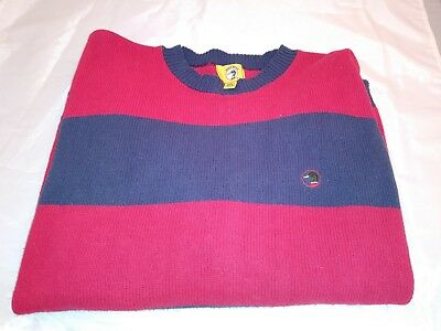 Duck Head Duck Tail Game Ready Blue and red Crewneck Sweater Men Size X Large