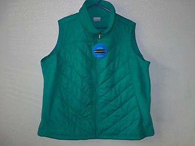 NWOT Women's Columbia Teal Green Mix It Around Vest - Size 3X