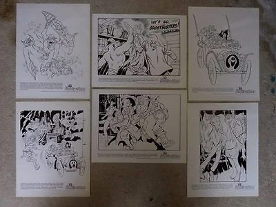Ghostbusters Filmation Promo Sheets 6 Different Lot #2