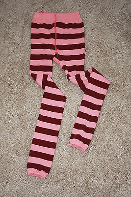 Girls Hanna Andersson Striped Footless Tights 130-140 EUC 7 8 9 10 Anderson
