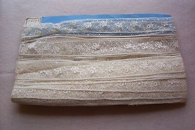 Vtg Antique Delicate  Insertion Lace Trim   Made in France 2 yards