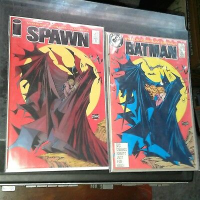 Spawn #230 + Batman #423 (Cover Swipe!) - 2 Comics!!  Todd Mcfarlane