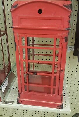 Vintage Lantern British London  Antique Metal Phone Booth Decor