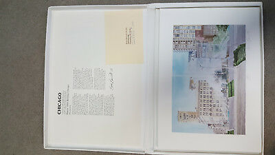 Vtg Brad Bennett Signed and Numbered Chicago Lithograph Collection Limited Ed