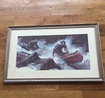 Shootinng The Rapids Once Again By Frank Earl Schoonover Painting