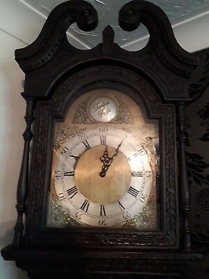 tempus fuit longcase 18th century grandfather clock