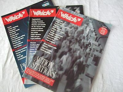 Rare Collectable Which Magazines 3 Issues January February March 1990