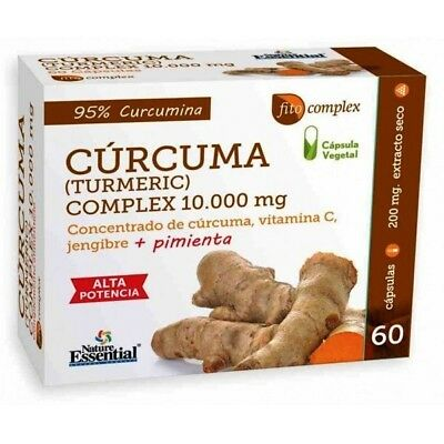 Curcuma 10000Mg Cap Nature Essential 60 Capsulas