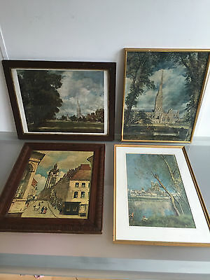 Cathedrals / Church Framed Prints Lot Of 4 - Vr