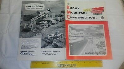 Rocky Mountain Construction Mag. Oct 15, 1962 Project Articles and Old Ads