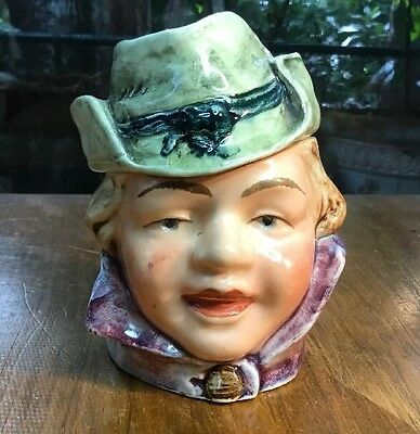 "Antique Austrian Humidor/Tobacco Jar ""Local Lady"" 	1880-1895 Very Von Trappish"