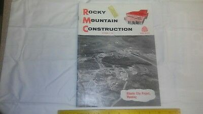 Rocky Mountain Construction Mag. Sept 4, 1961  Project Articles and Old Ads