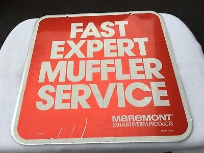 Maremont Auto Exhaust System Sign 2 sided Fast Expert Muffler service
