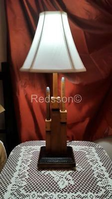 Redsson Handcrafted Art-ique Steampunk Wood Triple Pipe ORGAN Table Lamp  PL03