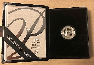1998 US American Eagle Platinum 1/10th Ounce Proof Coin